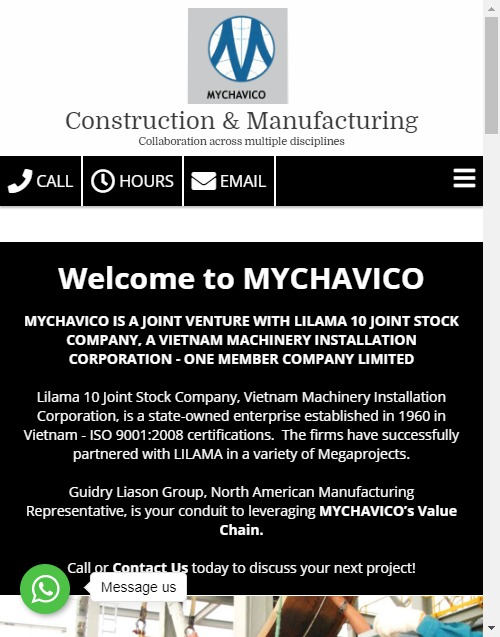 MyChavico Construction and Manufacturing